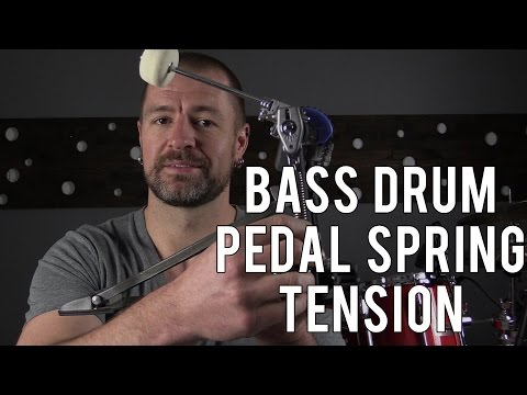 BASS DRUM PEDAL SPRING TENSION