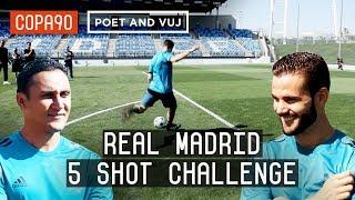 Real Madrid 5 Shot Challenge: Navas vs Nacho