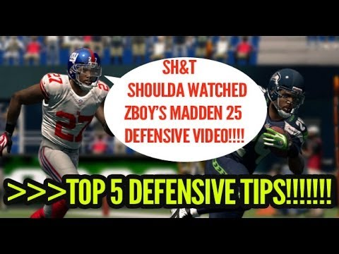 Madden 25 Top 5 Defensive Tips with Online Gameplay