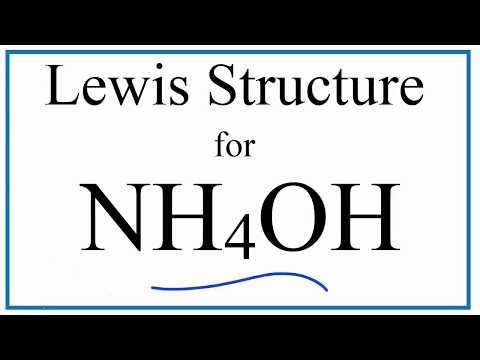 NH4OH Lewis Dot Structure (Ammonium Hydroxide)