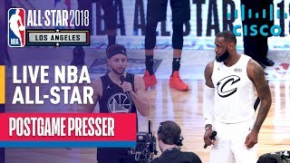 LIVE: Team LeBron vs Team Stephen 2018 NBA All-Star Postgame Presser