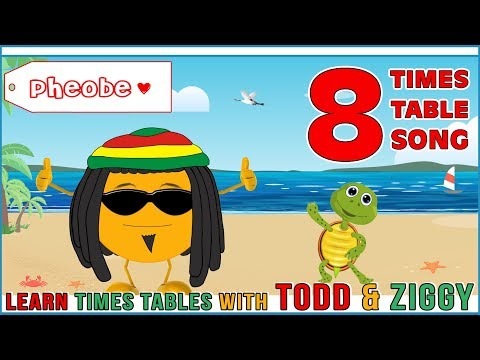 8 Times Table Song (Learning is Fun The Todd & Ziggy Way!)