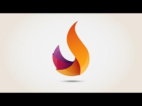 Flame 3D logo - Illustrator Free download | Speed Art