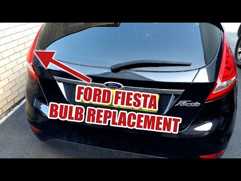 FORD FIESTA 2008-2013 Rear Bulb Replacement, Brake, Indicator, Reverse, Tail Light [80]