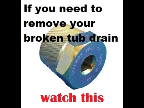 How to remove a broken tub drain