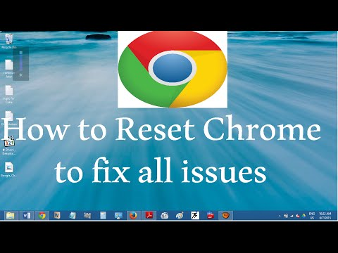 How to reset or refresh Google Chrome settings to default to FIX GOOGLE CHROME ISSUES