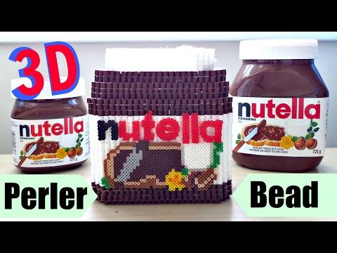 DIY 3D Perler Bead Nutella Jar/Container