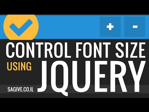 Creating a font size controller using jquery
