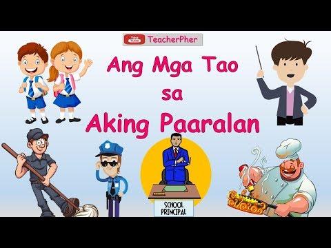 Ang Mga Tao Sa Aking Paaralan - KINDERGARTEN LESSON WEEK 1 DAY 2