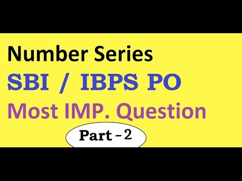 Number Series in HINDI Part 2: IBPS PO , SBI PO , SSC CGL : 2017