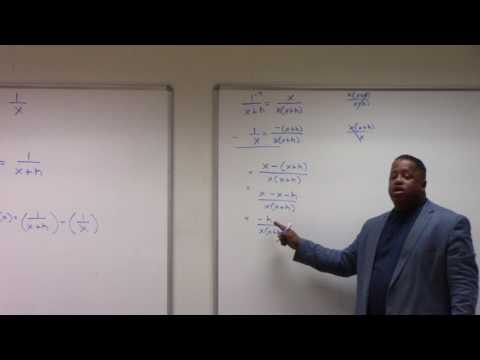 FINDING THE INSTANTANEOUS RATE OF CHANGE; using the difference quotient. Solving f(x) = 1/x