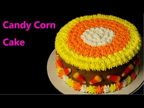 Thanksgiving Candy Corn Cake
