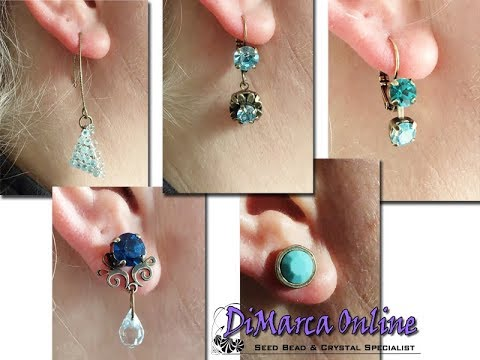 Tutorial: How to make 5 Earrings with Crystals, Embedding Elements and Swarovski Crystal Mesh