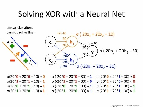 Neural Networks 6: solving XOR with a hidden layer