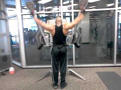 Overhead SHOULDER EXERCISE for HUGE TRAPS!....(TRAPEZIUS MUSCLE)
