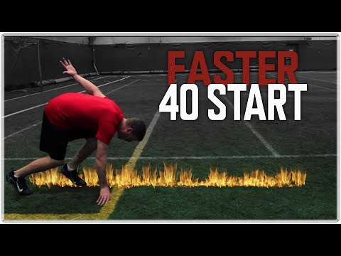 How to Run a Faster 40 Yard Dash - Learn the Art of the 40 Start (Set New PR's)