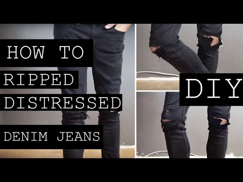 How To: Ripped Distressed Jeans | DIY Tutorial | Fashion | Ruben Ramos