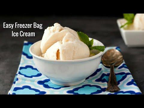 Freezer Bag Ice Cream Low Carb