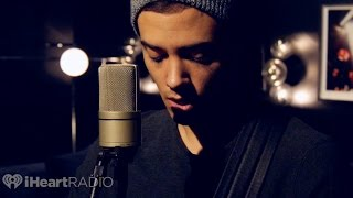 """Leroy Sanchez performs an acoustic version of his debut single """"By My Side"""" in the lounge at the iHeartRadio Theater in Los Angeles."""