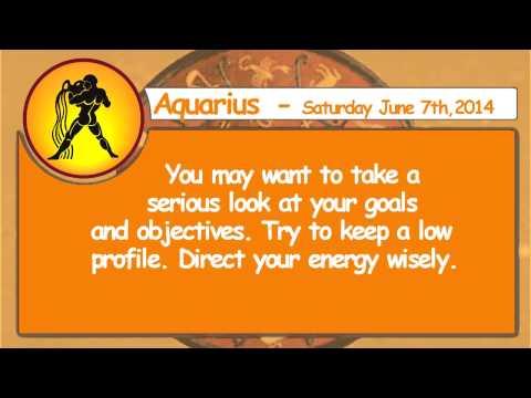 #Aquarius   7th June 2014   Daily Horoscope