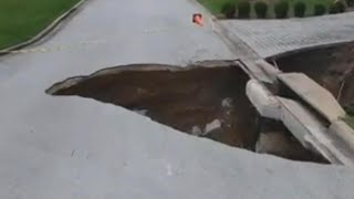 Several Sinkholes Plague Florida Neighborhood and Worry Homeowners