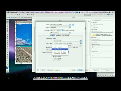 How to print from Adobe Photoshop CS5 on Mac