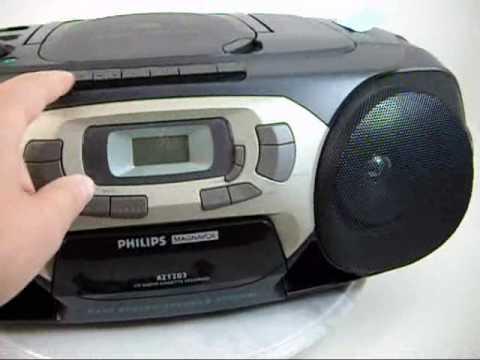 philips magnavox cd radio cassette recorder player az1203