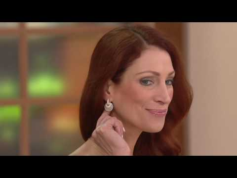Judith Ripka Sterling or 14K Clad Mother of Pearl Earrings on QVC