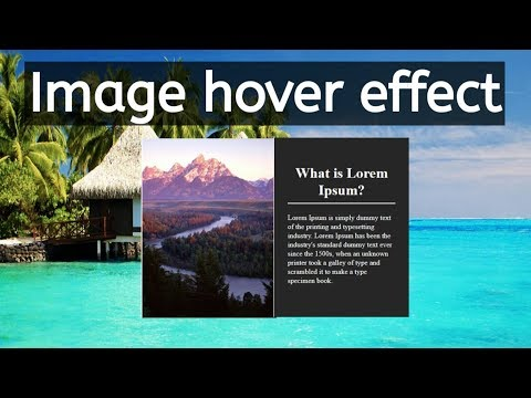 Image Hover effect Using html and css