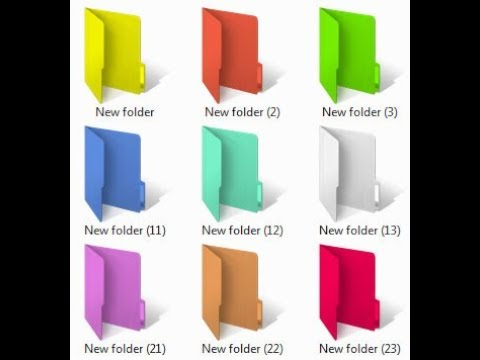 how to change computer folder color in Windows 7, 8, 10 - 2017 | Enginerd Sunio