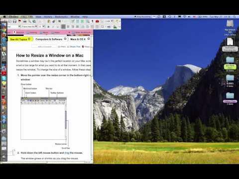Resize a Window on Mac