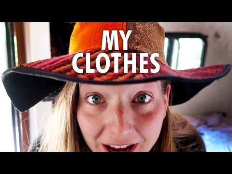 Clothes I Own in my 13ft Scamp Trailer