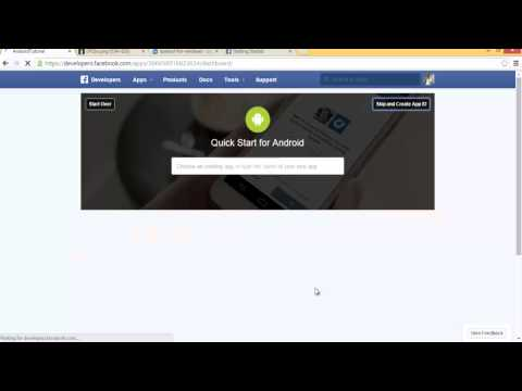 2 - Setting up Facebook App (1) - In Arabic