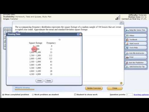 Measures of Central Tendency and Dispersion from Grouped Data with a TI Calculator