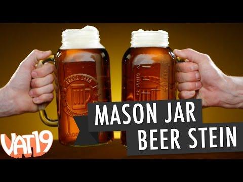 Gigantic Mason Jar Beer Stein