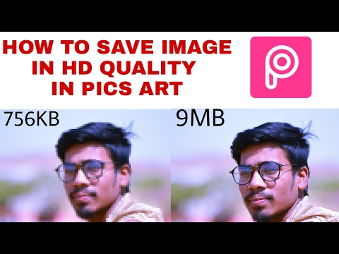 HOW TO SAVE IMAGE IN HD QUALITY IN PICSART