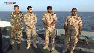 سكاي نيوز عربية على متن قانصة ألغام سعودية