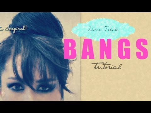 ★HAIR TUTORIAL: HOW TO FAKE BANGS WITH BUN / TOP KNOT HAIRSTYLES FOR MEDIUM LONG HAIR