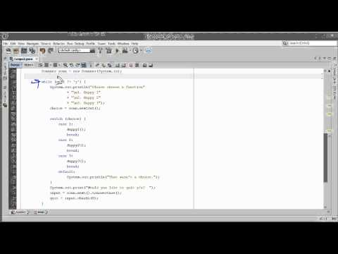 Java  - Using a While Loop to Control a Menu