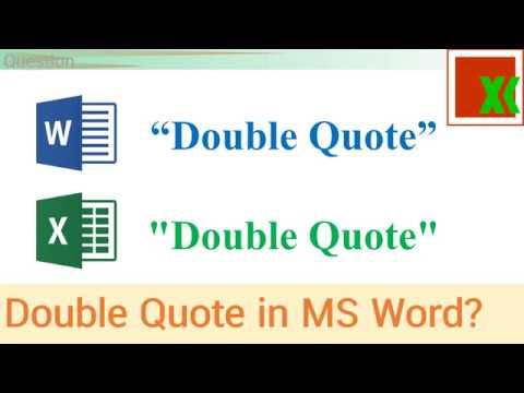 MS Word vs Excel Double Quote | เครื่องหมายคำพูดใน Word