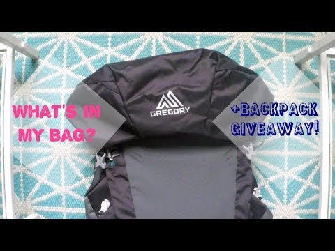 WHAT'S IN MY BAG? ••• BACKPACK GIVEAWAY!! [CLOSED]