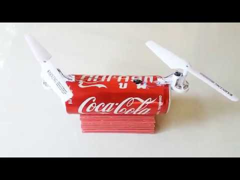 How to Make a Helicopter - using coca cola can
