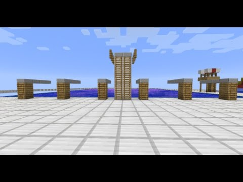 How to make a diving board on Minecraft for your pool