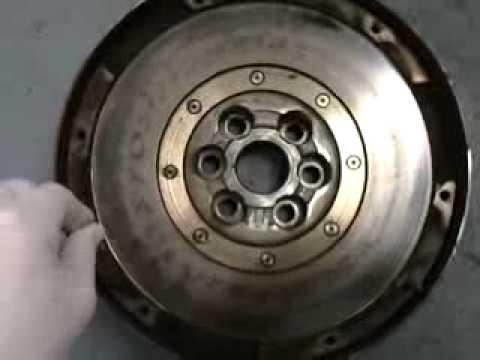 Dual mass flywheel worn new vs Old