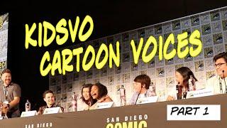 STEVEN UNIVERSE, DOC MCSTUFFINS, POWERPUFF-BUBBLES & MORE! | COMIC CON KidsVO Cartoon Voices #1