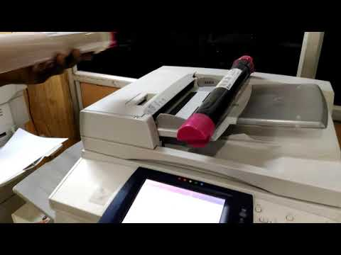 How to Replace xerox work centre 7435 new  toner cartridge replace|