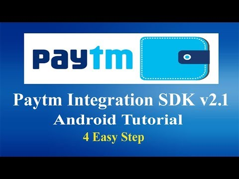 Paytm Payment Gateway Integrations Android tutorial -SDK 2.1