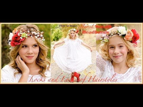 How to: Floral Wreath Headband/Crown