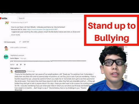 1DoctorGenius: stand up to bullying, like I just did!