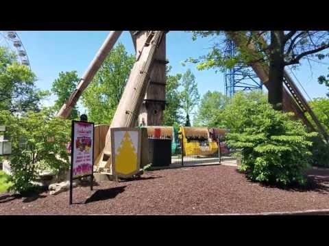 Nauta Bussink Evolution Ride -XCALIBUR Ride at Six Flags Missouri.  Off Ride Video